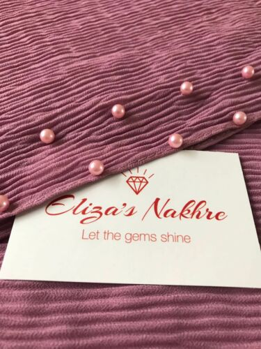 2018 New Arrival Collection Heavy Chiffon Pearl  Hijab Solid Mauve Colour