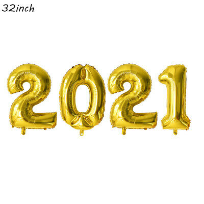 "32"" 2021 Self Inflating Happy New Year Party Balloons ..."