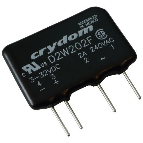Crydom D2W202F Relais 24V-280V AC 2A Elektronisches Print-Lastrelais SIP4 855439
