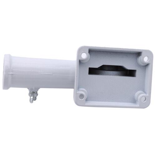 Adjustable Wall Mount Flagpole Metal Holder Bracket White Flag Pole KV