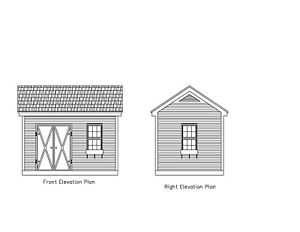 Details About Shed Plans 10 X14 Gable Or Gambrel14 X10 Gable Gambrel Roof 17 1014gbl