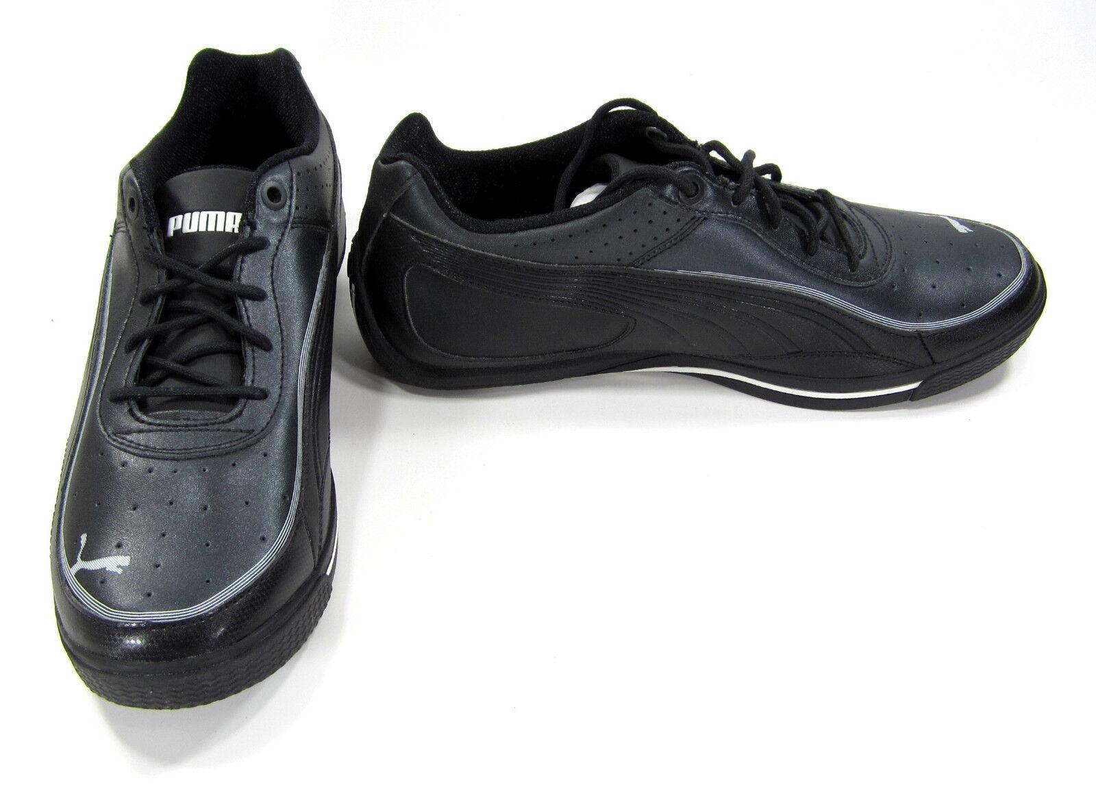 Puma Zapatos SL Street Lo casi como nuevo Basic Negro Zapatillas Tamaño 7