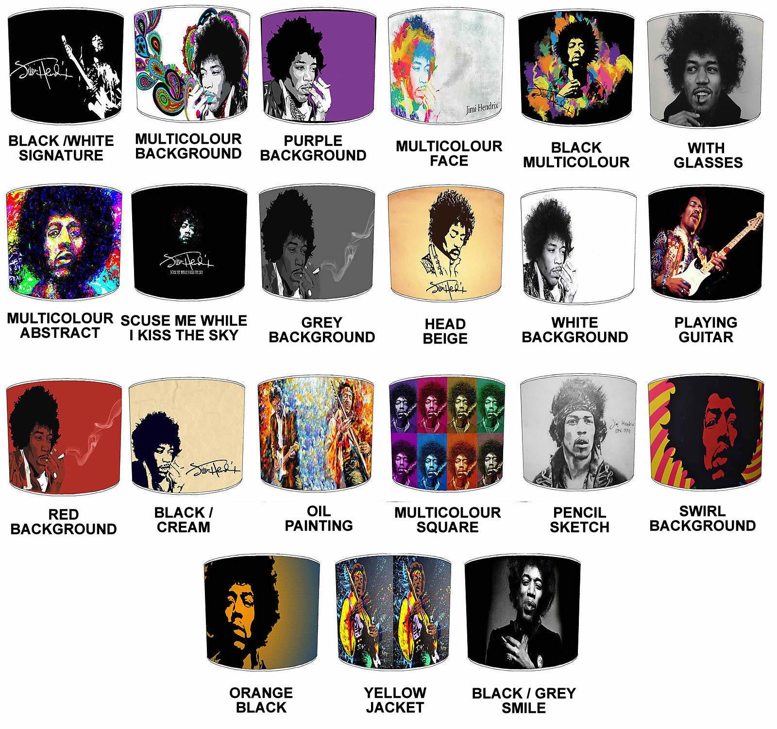 Jimi Hendrix Paralumi Ideale per Jimi Hendrix da Muro, Decalcomania & Adesivi