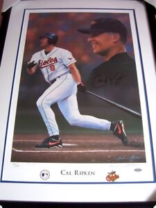 Cal-Ripken-signed-autographed-auto-Orioles-lithograph-litho-framed-800-STEINER
