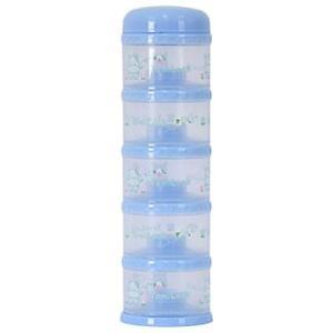 Yomilock 5-Layer Antibiotic Milk Powder Container / Dispenser, Blue - Made In Ko