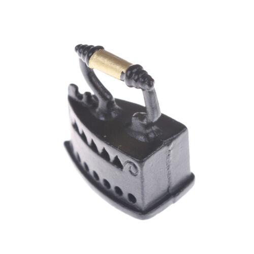 1:12 Schwarz Mini Puppenhaus Miniatur Dekorative Eisen Zimmer Modell Werkzeug  X