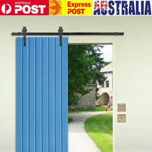 1-83M-Sliding-Barn-Door-Hardware-Kit-Roller-Slide-Track-Set-Antique-Classic-Home