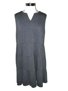 NEW MAURICES Plus Size 2 2X Shift Dress Gray Sleeveless Knee Length