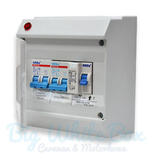 s l300 caravan deluxe mains consumer unit fuse box caravan motorhome camper fuse box at bayanpartner.co