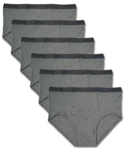 5XL Big /& Tall Men's Underwear 6-PACK BRIEFS All Gray 2XL