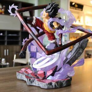 Details About Anime One Piece Monkey D Luffy Gear 4 Jz Snake Man Gk Statue Figure New No Box