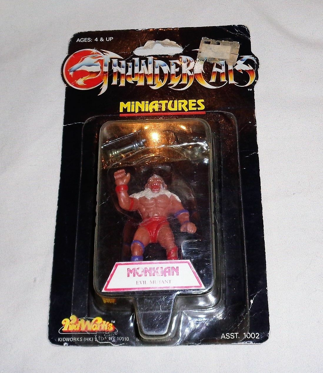RARE 1986 Kidworks Thundercats Monkian Mini Figure 3 Inch MOC Sealed Carded