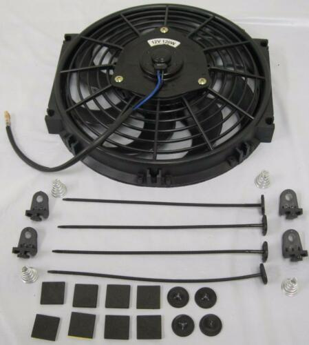 """10/"""" Heavy Duty Electric Curved S-Blade Radiator Cooling Fan w// Mounting Kit"""