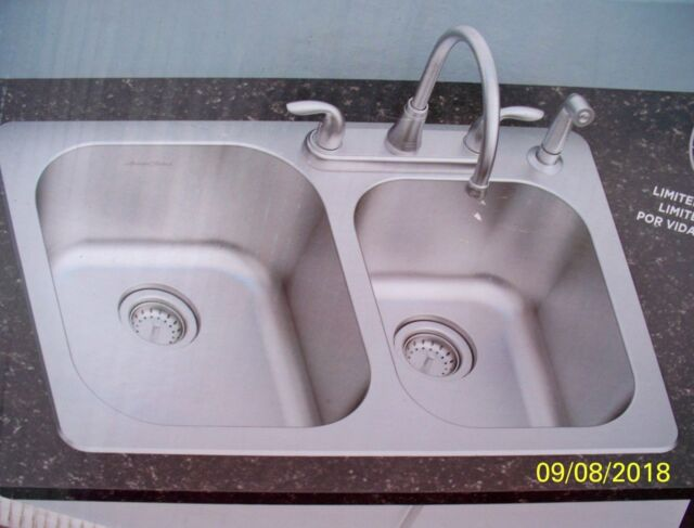 American Standard Kitchen Sink All In One Kit Double Basin In Stainless Steel Us For Sale Online Ebay