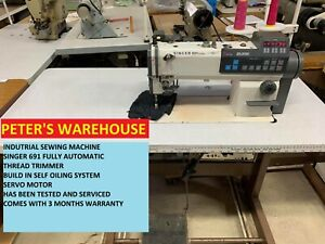 INDUSTRIAL SEWING MACHINE FULLY AUTOMATIC SINGER 691