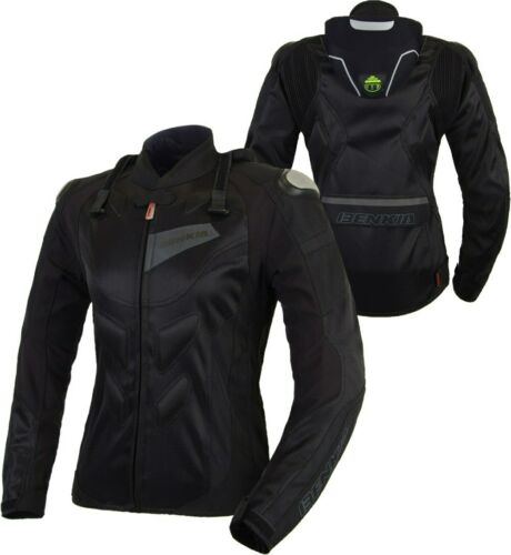 BENKIA Women Motorcycle Jackets Summer Mesh Breathable Racing Protective Jersey