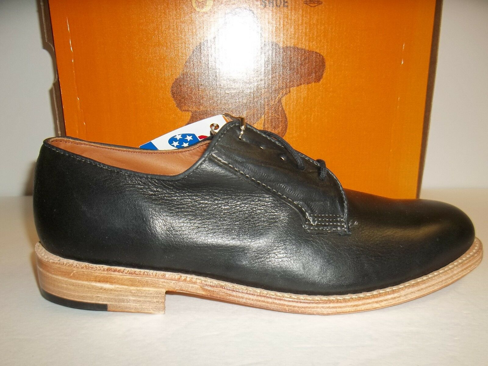 The Gorilla shoes Sz 9.5 M Dress Low Black Harness Leather Oxfords New Mens shoes