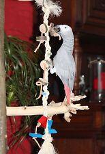 Papageien Freisitz KLETTERSTRICK Naturholz Sittiche Papageienspielzeug **NEU**
