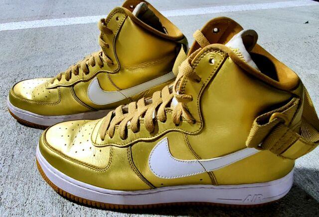 Nike Air Force 1 High Retro QS Metallic Liquid Gold 823297