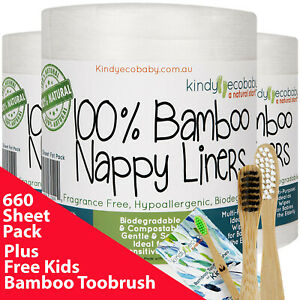 660-Pack-Bamboo-Flushable-Liners-Nappy-Insert-Cloth-Biodegradable-Natural-Liner