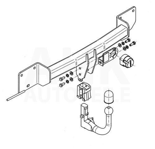 Für BMW 3er E91 Touring Anhängerkupplung abnehmbar+ES 13p ABE