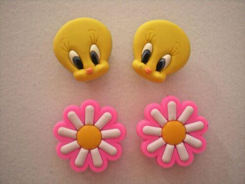 Jibbitz Clog Shoe Charm Plug Button WristBand Holey Accessories Tweety Flower