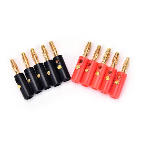 lot 4mm audio lautsprecher schraube bananenstecker stecker Audio Kabel WRD 10X