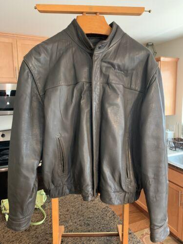 Vintage Wilson's Gray Leather Jacket Sz 46