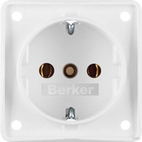 Berker Schuko pws mit Schraubklemmen 941852502 Steckdose polarweiß