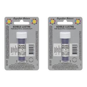 2-x-Sugarflair-Edible-Purple-Sparkle-Lustre-Dust-Powder-Food-Cake-Icing-Colour