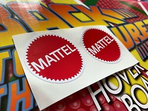Back to the Future Hoverboard Mattel stickers 1:1 Replica