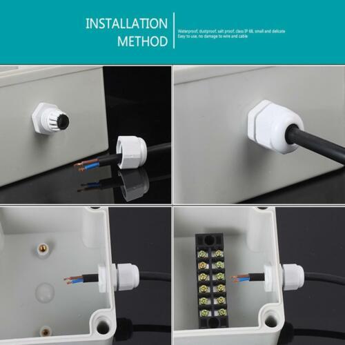 M20 20 mm câble Compression Stuffing Gland Imperméable IP68 pour fil 10 To 14 mm