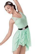 Women Weissman 7541 Imagine Mint Green Ballet Dance Costume Size AL Adult Large