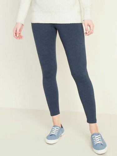 NWT Old Navy Women/'s Mid-Rise Jersey Leggings Legging Pants Navy Blue Heather XL