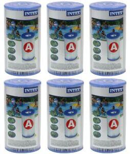 6-x-Intex-Filter-Kartusche-Typ-A-Filterkartusche-Filterpatrone-Pool-29000-K