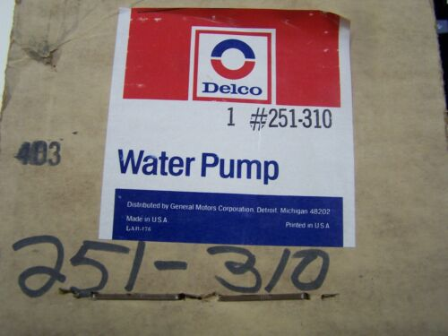 NOS New Delco Water Pump 251-310 Mustang Continental Mark VII 7 Capri Marquis