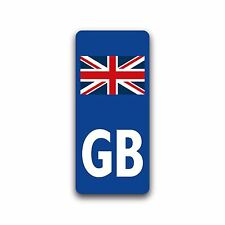 Motorcycle GB UK Union Jack Flag Badge Vinyl Sticker for Moto Number Plate