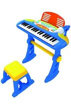 Children's Toy Electronic Keyboard With 37 Keys BLUE