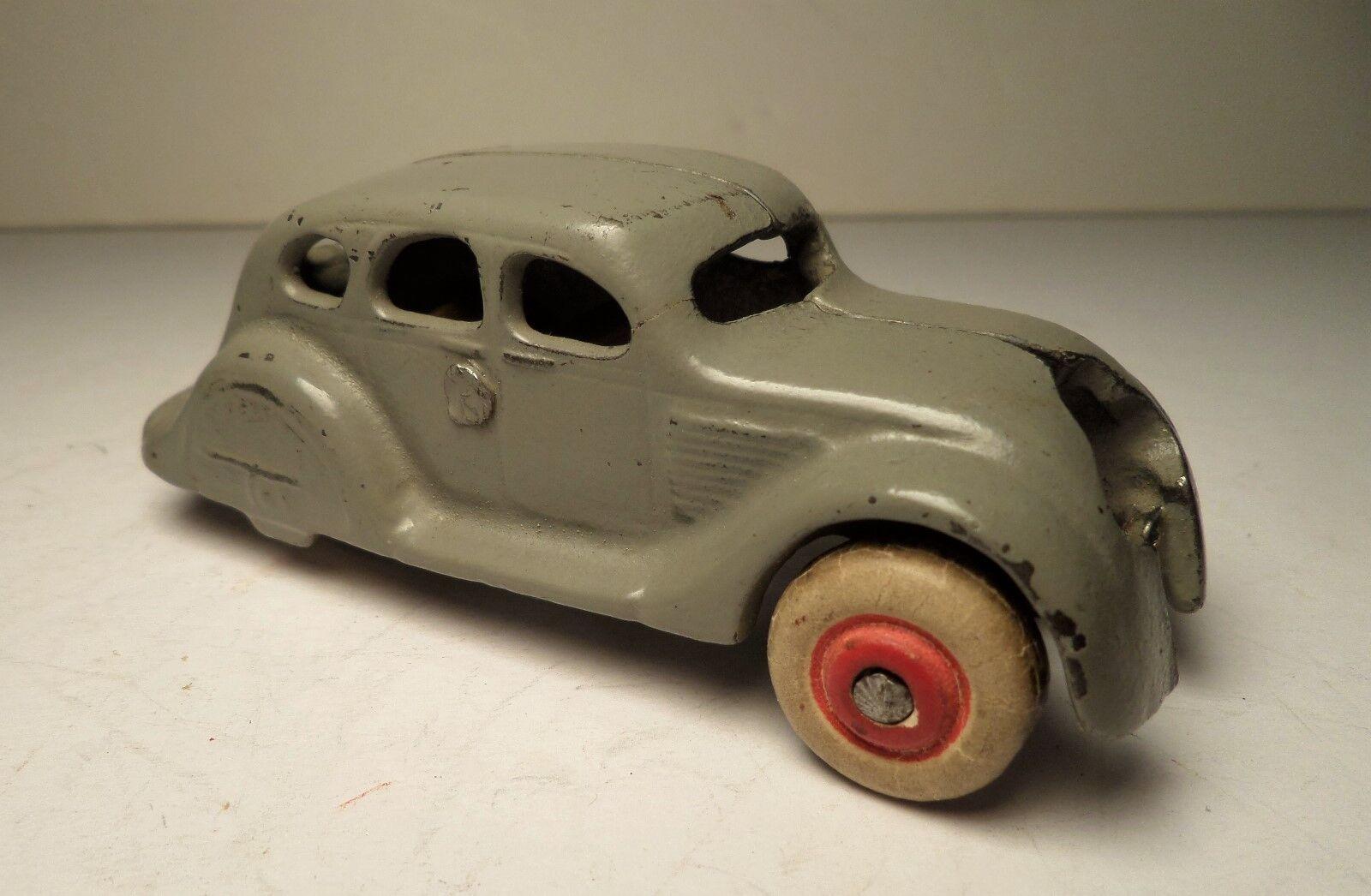 '37 ARCADE AIRFLOW DESOTO Gris SEDAN AUTHENTIC ORIG OLD CAST IRON