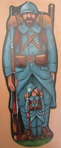 Antique-Brand-Pages-Bookmark-Advertising-Soldier-Man-and-Child-Hairy-1914