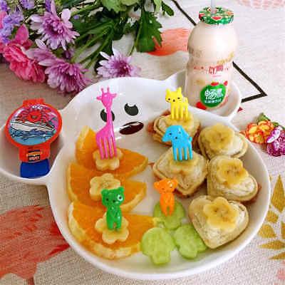 10pcs Animal Cartoon Frutta Fork Segno Frutta Stuzzicadenti Bento Pranzo Per Bambini Sg- Rinfresco