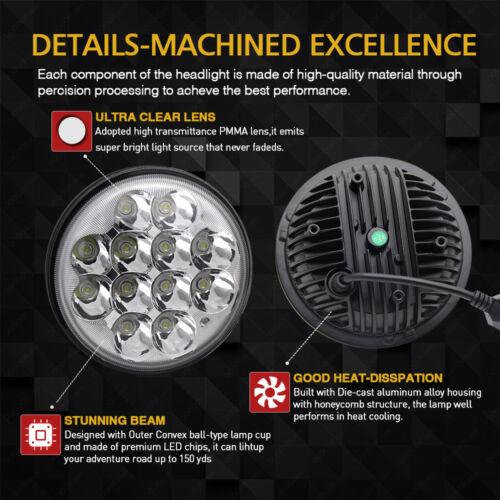 "4pcs 5.75/'/' 5-3//4/"" inch Round LED Headlights Crystal Clear Hi//Lo Sealed Beam"