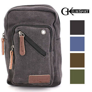 Image is loading GK-EuroSport-Canvas-Mini-Shoulder-Crossbody-Messenger-Bag 169098ee290e8