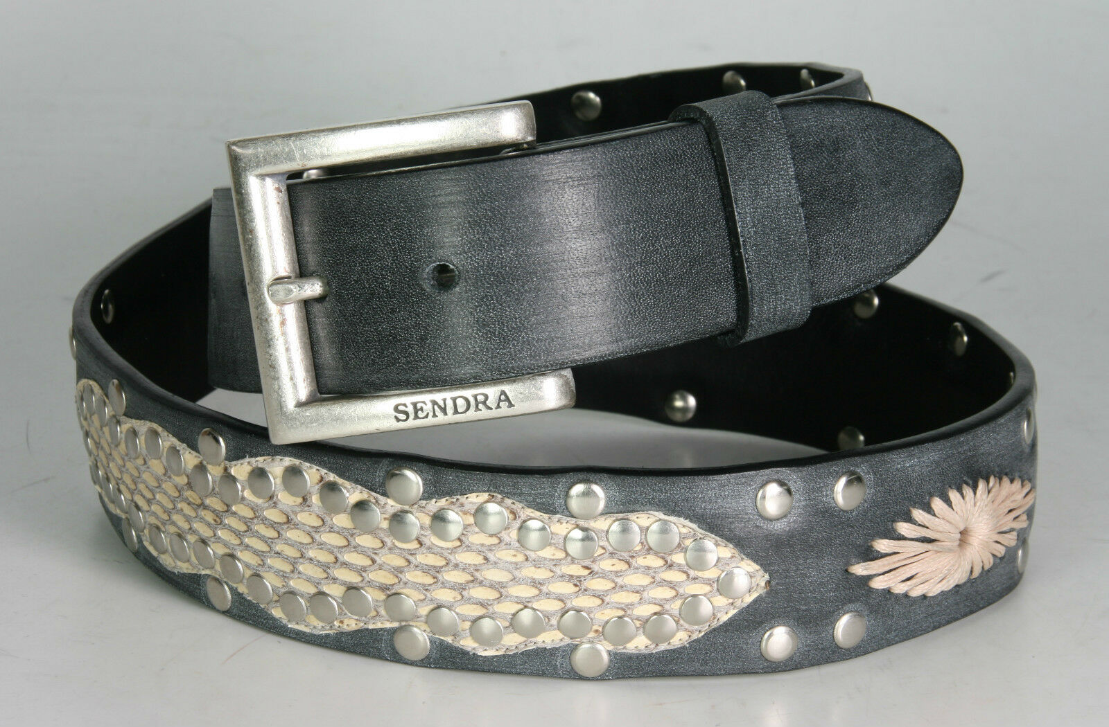1176 Sendra Gürtel Negro Kobra Natural Wechselgürtel echt Leder