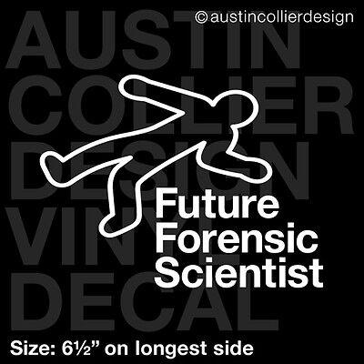 "csi science 6.5/"" FORENSIC TOXICOLOGY vinyl decal car window laptop sticker"