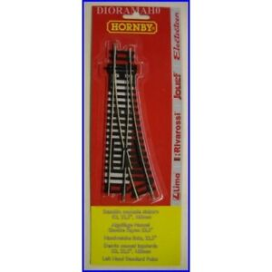 LIMA-HORNBY-H0-1-87-BLISTER-SCAMBIO-MANUALE-SINISTRO-R2-22-5-168-mm-HT8302