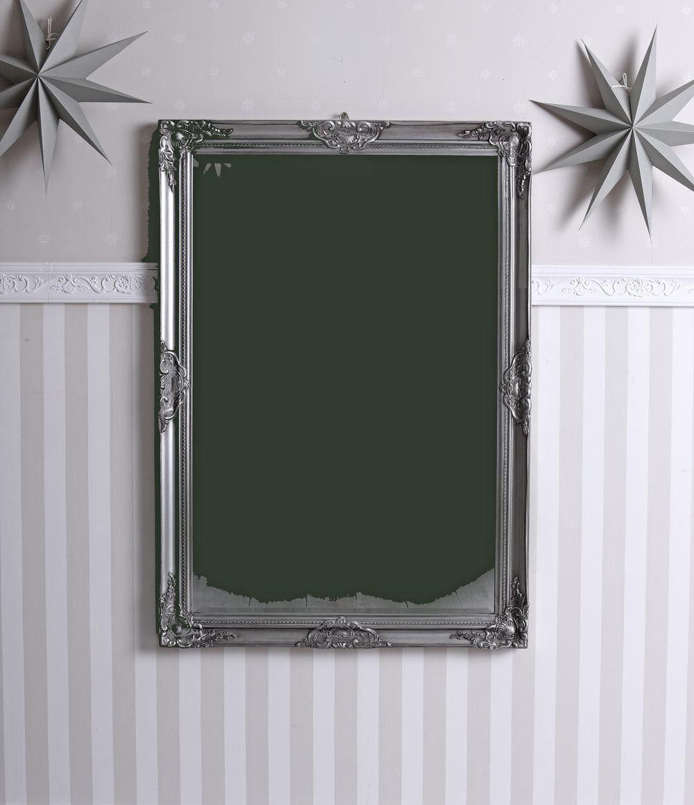 Miroir Baroque Argent Ancien de Sale Bain Mural Rokoko Couloir