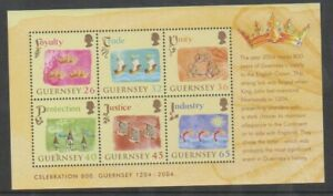 Guernesey-2004-Anniversaire-De-Allegiance-Feuille-MNH-Sg-MS1044