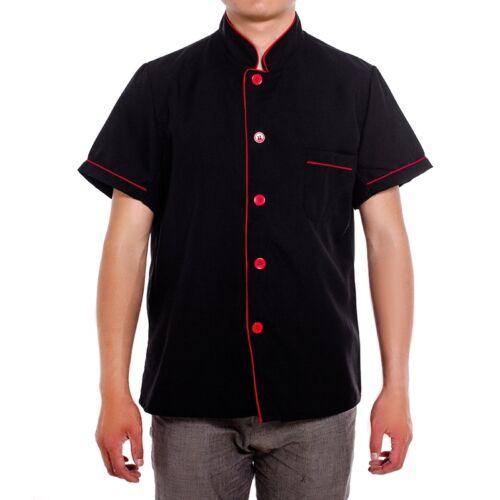 Summer Unisex Chef Coat Workwear Restaurant Men Women Cook Clothes Work Uniform