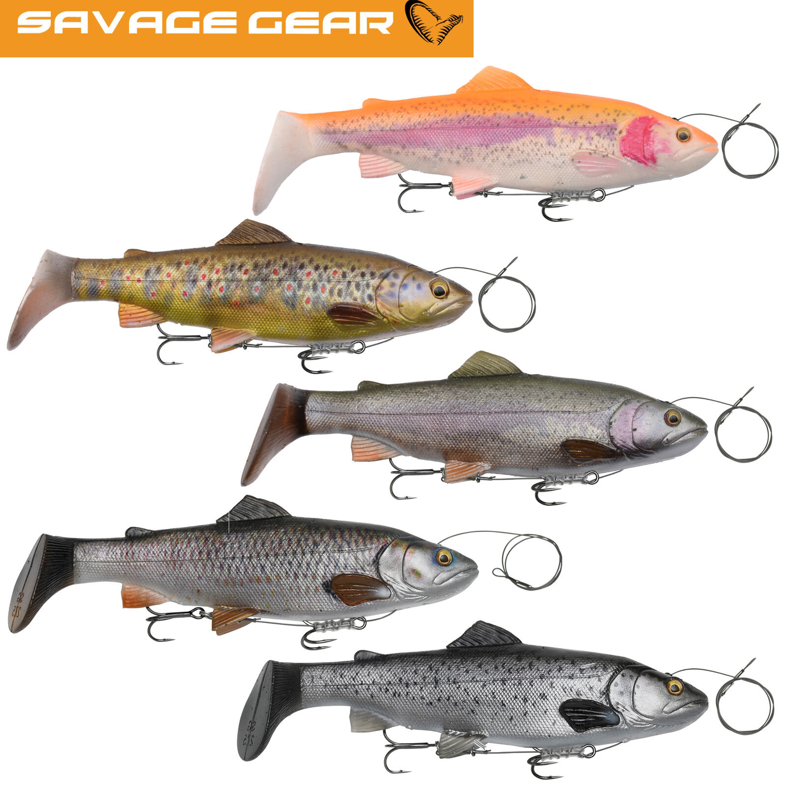 SAVAGE GEAR 4D Line Thru Trout Rattle Shad 27,5cm MS Swimbait LIMITED EDITION